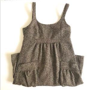 Anthropologie Theme Overall Dress Herringbone Wool